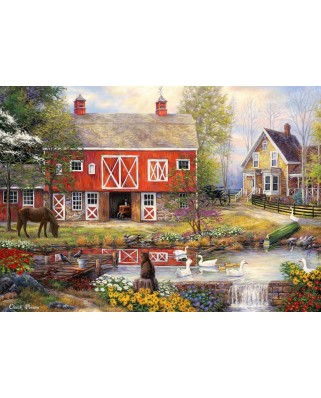 Puzzle Grafika - Chuck Pinson: Reflections On Country Living, 1.500 piese (62160)