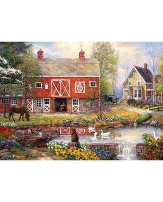 Puzzle Grafika - Chuck Pinson: Reflections On Country Living, 300 piese (62158)