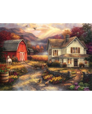 Puzzle Grafika - Chuck Pinson: Relaxing on the Farm, 2.000 piese (62161)
