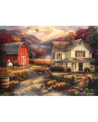 Puzzle Grafika - Chuck Pinson: Relaxing on the Farm, 500 piese (62171)