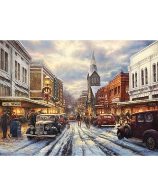 Puzzle Grafika - Chuck Pinson: The Warmth of Small Town Living, 300 piese (63159)
