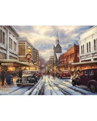 Puzzle Grafika - Chuck Pinson: The Warmth of Small Town Living, 500 piese (63164)