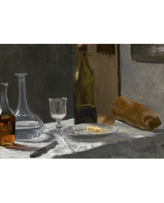 Puzzle Grafika - Claude Monet: Still Life with Bottle, Carafe, Bread, and Wine, 1863, 1.000 piese (55196)