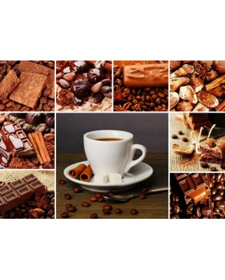 Puzzle Grafika - Coffee Collage, 1.000 piese (55525)