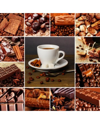 Puzzle Grafika - Coffee Collage, 1.500 piese (55524)