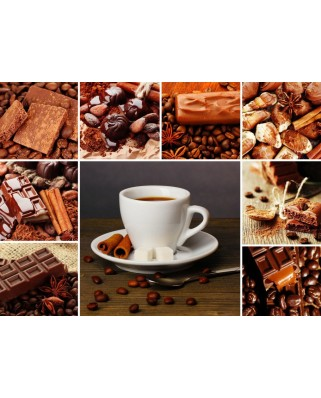 Puzzle Grafika - Coffee Collage, 300 piese (55526)