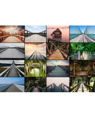 Puzzle Grafika - Collage - Bridges, 1.000 piese (54210)