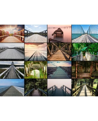 Puzzle Grafika - Collage - Bridges, 2.000 piese (54804)