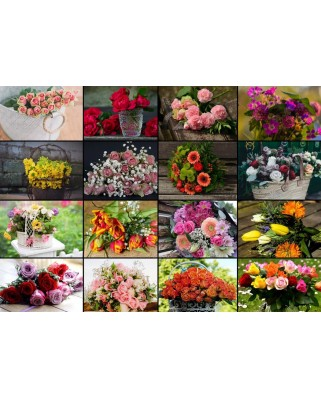 Puzzle Grafika - Collage - Flowers, 1.500 piese (60976)