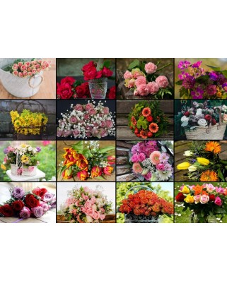 Puzzle Grafika - Collage - Flowers, 300 piese (60971)