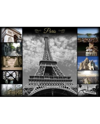 Puzzle Grafika - Collage - Paris, 1.000 piese (52584)