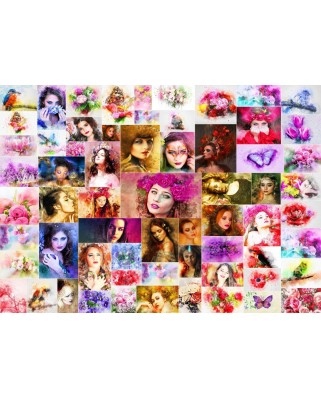 Puzzle Grafika - Collage - Women, 1.000 piese (64599)