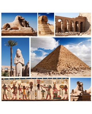 Puzzle Grafika - Collage Egypte, Sphinx et Pyramide Collage, 1.500 piese (50286)