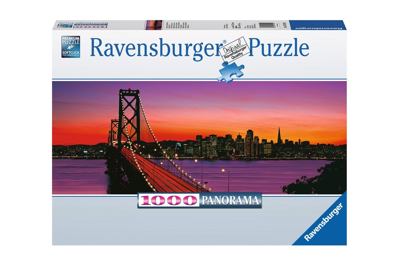 Puzzle panoramic Ravensburger - Podul Oakley Bay, 1.000 piese (15104)