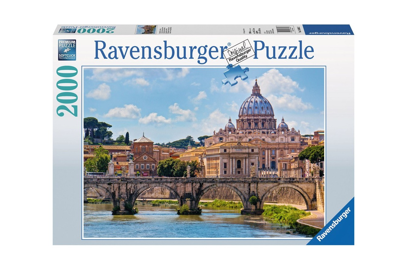 Puzzle Ravensburger - Podul Sant Angelo, 2.000 piese (16686)