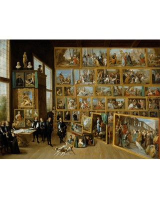 Puzzle Grafika - David Teniers: The Art Collection of Archduke Leopold Wilhelm in Brussels., 2000 piese (49195)