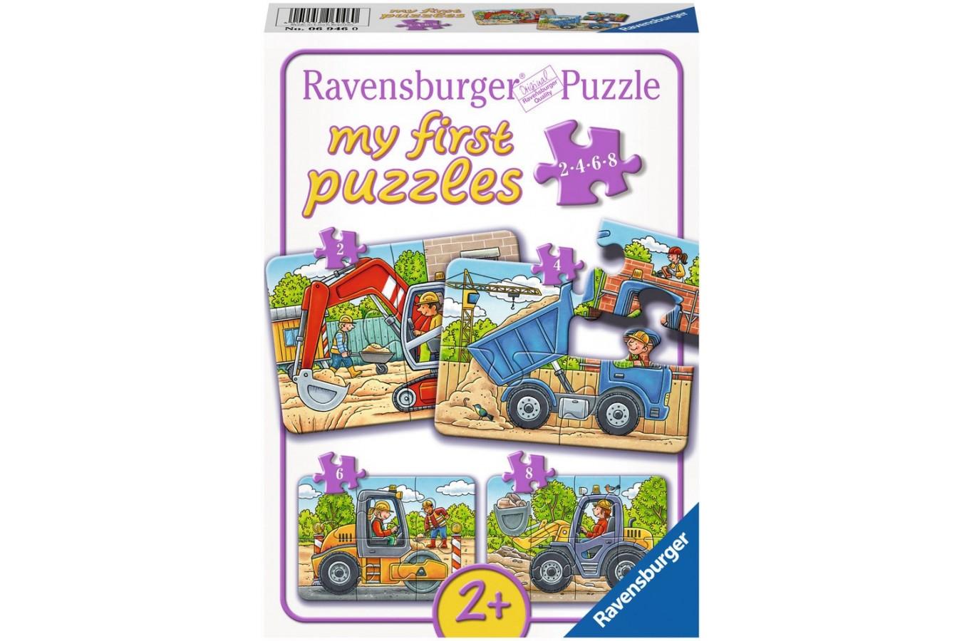 Puzzle Ravensburger - Santier, 2/4/6/8 piese (06946)