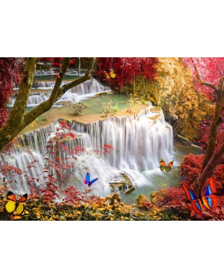 Puzzle Grafika - Deep Forest Waterfall, 300 piese (61993)