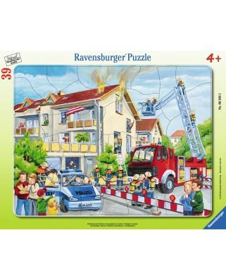 Puzzle Ravensburger - Pompieri In Actiune, 39 piese (06393)