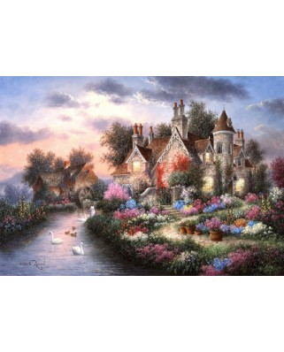 Puzzle Grafika - Dennis Lewan: Mill Creek Manor, 1.500 piese (60443)