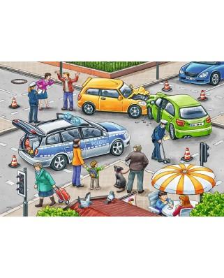 Puzzle Ravensburger - Politie, 2x12 piese (07578)