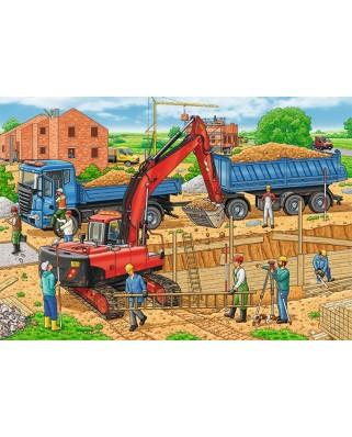 Puzzle Ravensburger - Santier, 2x12 piese (07589)