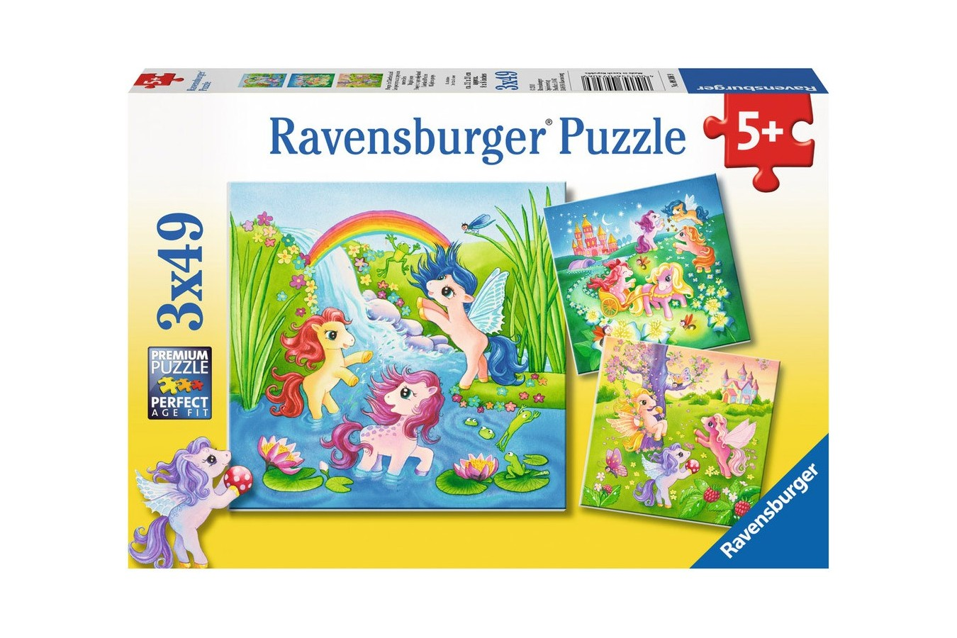 Puzzle Ravensburger - Ponei In Lumea Basmelor, 3x49 piese (09306)