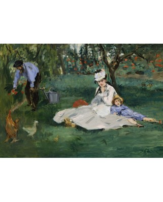 Puzzle Grafika - Edouard Manet: The Monet Family in Their Garden at Argenteuil, 1874, 1.000 piese (51606)