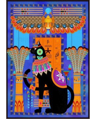 Puzzle Grafika - Egyptian Cat, 1.000 piese (54848)
