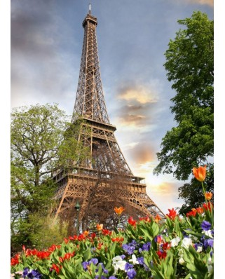 Puzzle Grafika - Eiffel Tower, France, 300 piese (55548)
