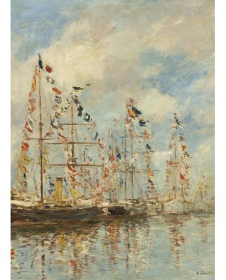 Puzzle Grafika - Eugene Boudin: Yacht Basin at Trouville-Deauville, 1895/1896, 300 piese (55326)