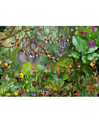 Puzzle Grafika - Francois Ruyer: Jungle, 500 piese (61793)