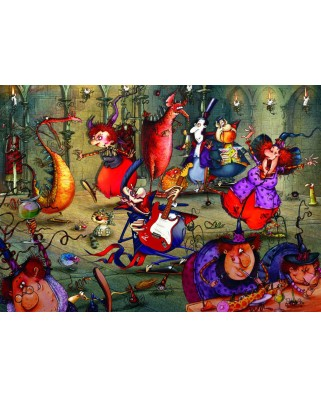 Puzzle Grafika - Francois Ruyer: The Witches Festival, 2.000 piese (61802)