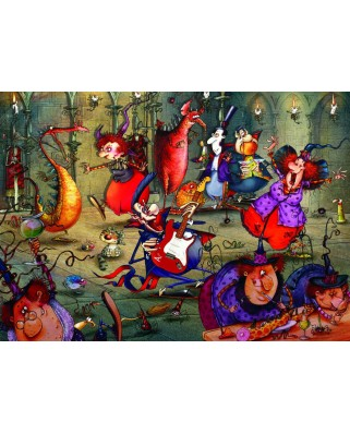 Puzzle Grafika - Francois Ruyer: The Witches Festival, 500 piese (61805)