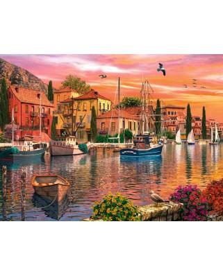 Puzzle Ravensburger - Dominic Davison: Port Mediteranean, 1.500 piese (16280)