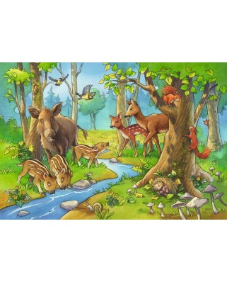 Puzzle Ravensburger - Animale Padure, 2x24 piese (09117)