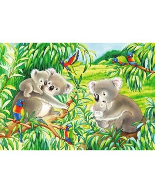 Puzzle Ravensburger - Koala Si Panda, 2x24 piese (07820)