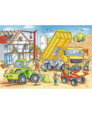 Puzzle Ravensburger - Muncind Din Greu, 2x24 piese (07800)