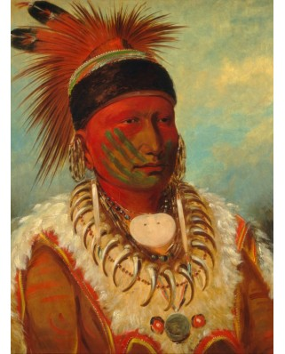 Puzzle Grafika - George Catlin: The White Cloud, Head Chief of the Iowas, 2000 piese (45864)