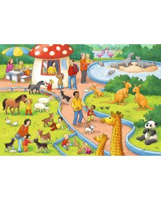 Puzzle Ravensburger - Zi La Zoo, 2x24 piese (07813)