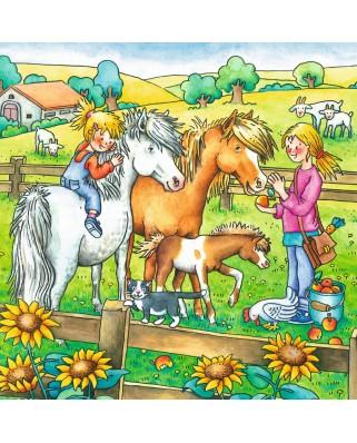 Puzzle Ravensburger - Animale De Curte, 3x49 piese (09293)