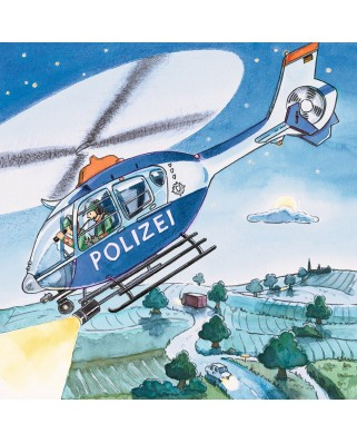 Puzzle Ravensburger - Politie, 3x49 piese (09221)