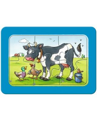 Puzzle Ravensburger - Animale Prieteni, 3x6 piese (06571)