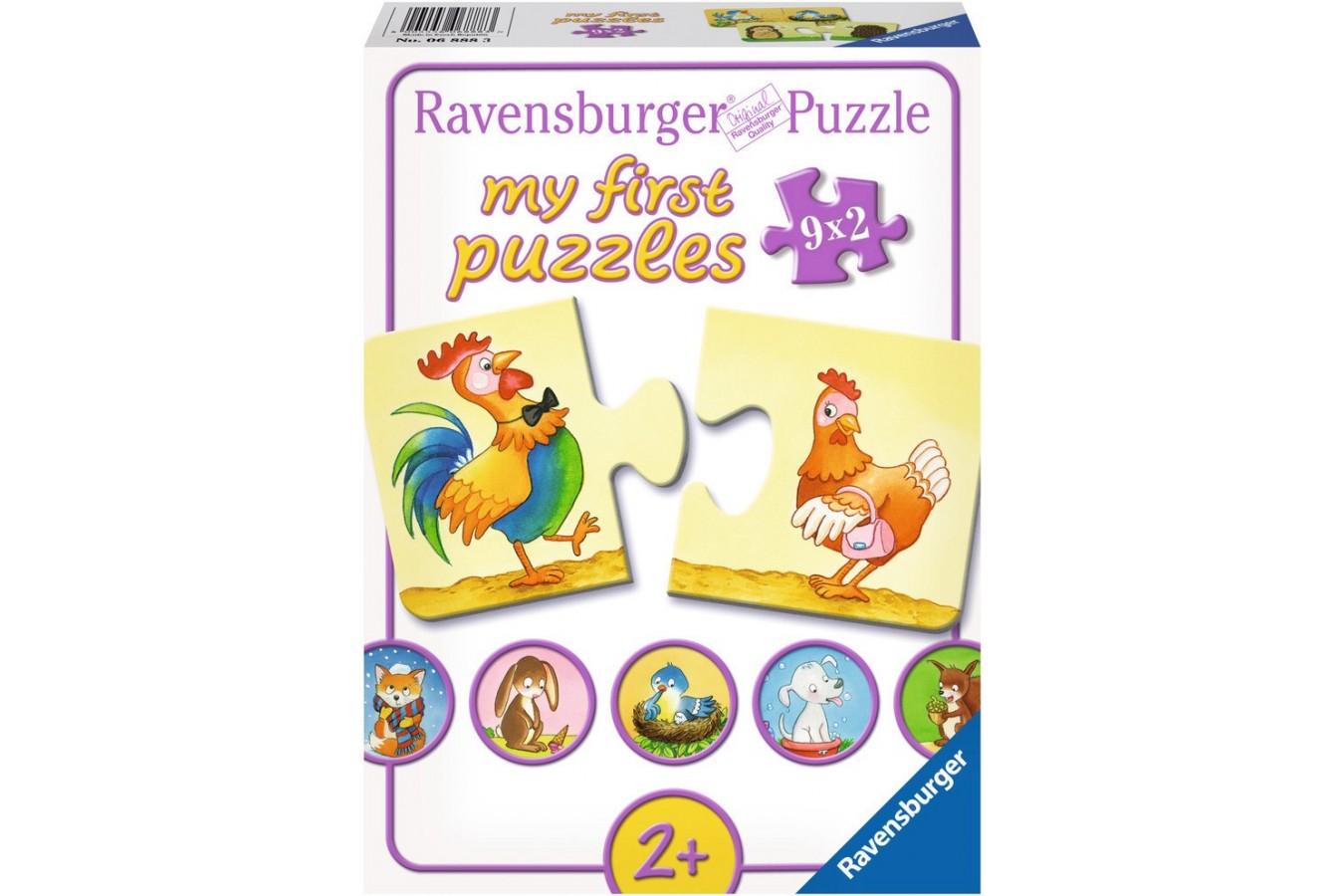 Puzzle Ravensburger - Multe Contrarii, 9x2 piese (06888)