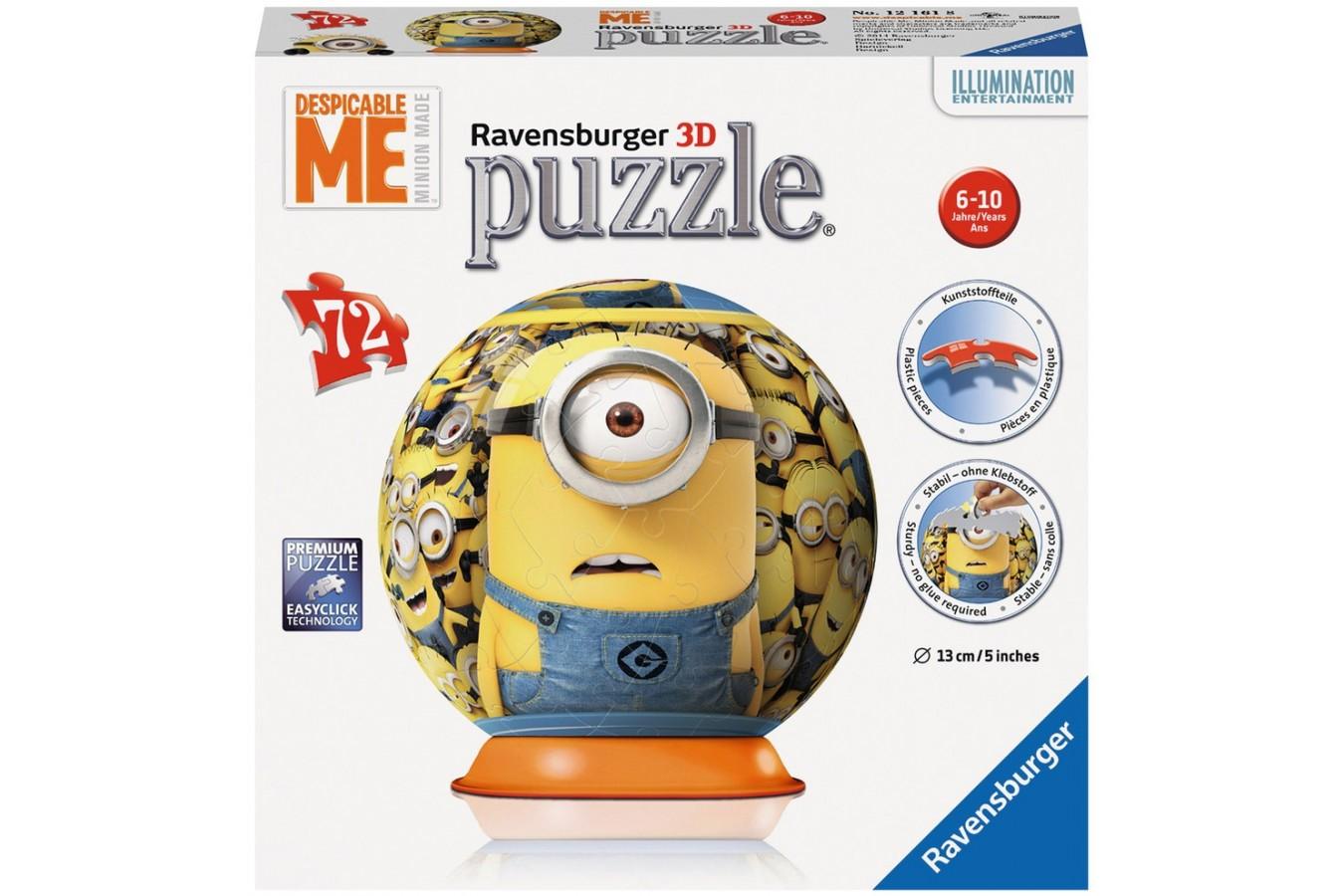 Puzzle glob Ravensburger - Minions 72, 72 piese (12161)