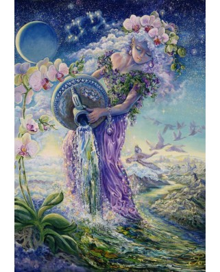 Puzzle Grafika - Josephine Wall: Zodiac Sign - Aquarius, 1.000 piese (50719)