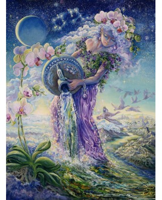 Puzzle Grafika - Josephine Wall: Zodiac Sign - Aquarius, 2.000 piese (50718)