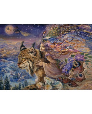Puzzle Grafika - Josephine Wall: Flight of the Lynx, 1.000 piese (51528)