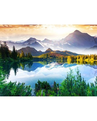 Puzzle Grafika - Moutain Behind the Lake, 2.000 piese (54763)