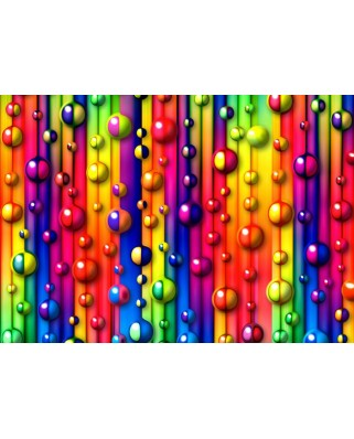 Puzzle Grafika - Multicolored Bubbles, 1.000 piese (55498)